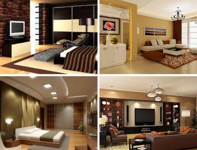 Design interior in a modern apartment